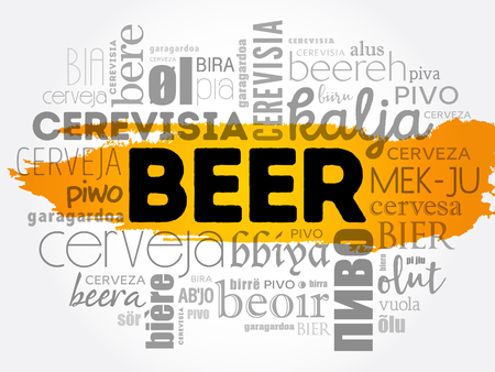 BEER  word cloud concept design.