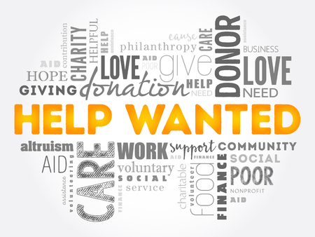 Help Wanted word cloud concept design. Illustration