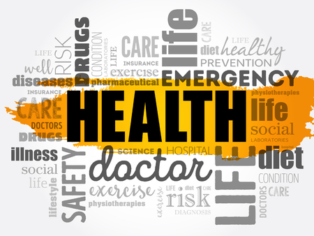 HEALTH word cloud concept design.