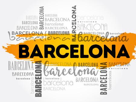 Barcelona word cloud concept design.