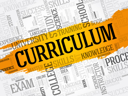 CURRICULUM word cloud collage, education business concept Illustration