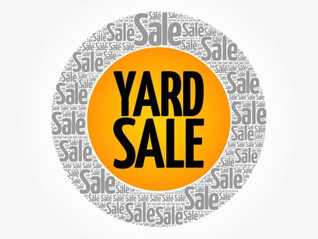 Yard Sale words cloud, business concept background illustration.