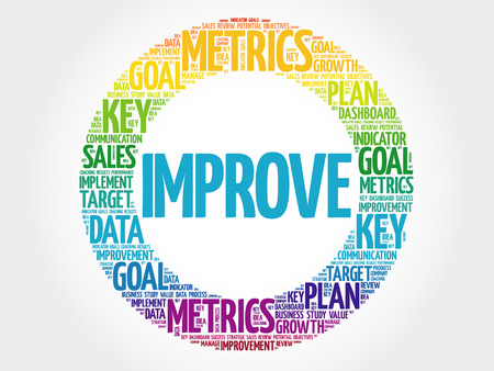 Improve circle word cloud, business concept background Vectores