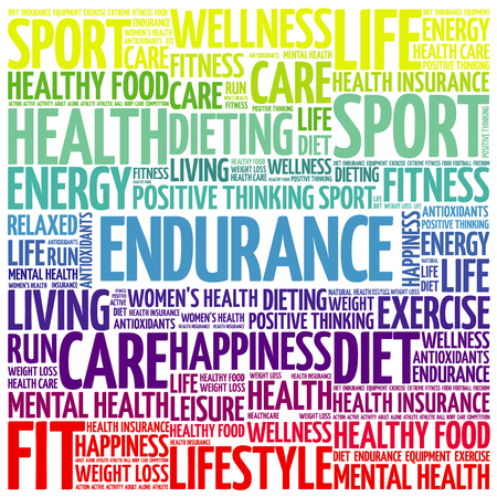 ENDURANCE word cloud, fitness, sport, health concept