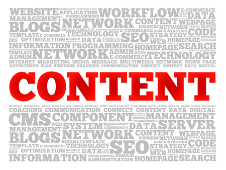 CONTENT word cloud collage, technology business concept background