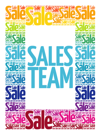 Sales Team words cloud, business concept background