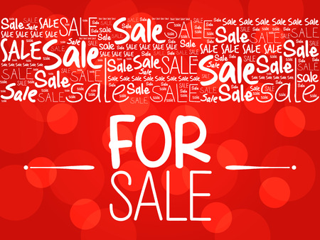 For SALE word cloud collage background, business concept