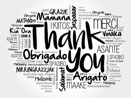 Gracias nube de palabras en diferentes idiomas, concepto de fondo Foto de archivo - 94621519
