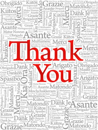 다른 언어, 개념 배경 감사 단어 구름 스톡 콘텐츠 - 94621655
