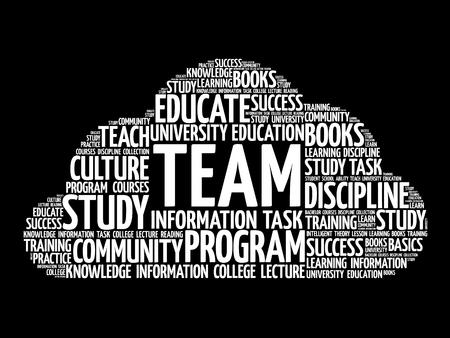 TEAM word cloud, business concept background Illustration