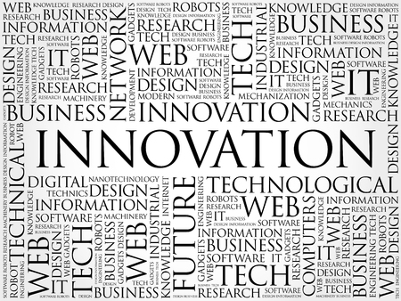 INNOVATION word cloud collage, business concept background Stok Fotoğraf - 95340417