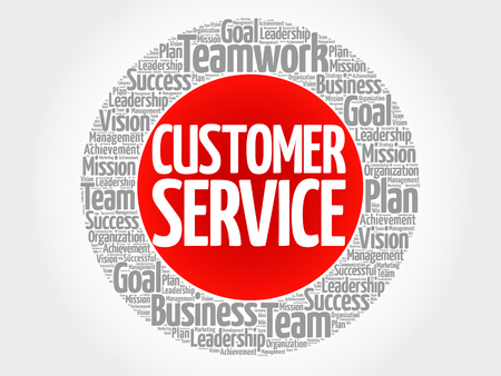 Servicio al cliente palabra nube collage, concepto de negocio de fondo