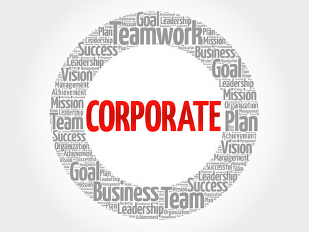 CORPORATE word cloud collage, business concept background