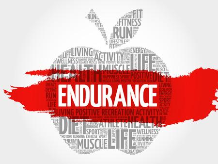 ENDURANCE apple word cloud, health concept
