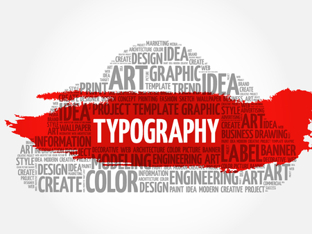 TYPOGRAPHY word cloud, creative business concept background. Illustration