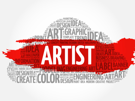 ARTIST word cloud, creative business concept background.
