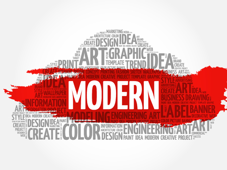 MODERN word cloud, creative business concept background.