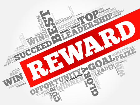 Reward word cloud, business concept Illusztráció