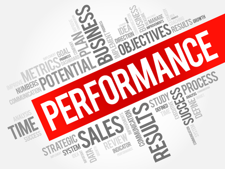 Performance word cloud collage, business concept