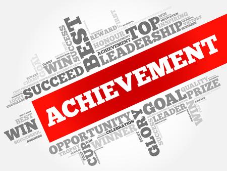 Achievement word cloud, business concept Vectores