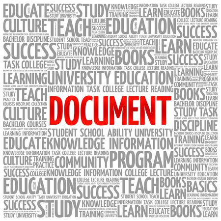 문서 단어 구름 콜라주, 교육 개념 배경