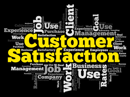 Customer Satisfaction word cloud, business concept background 일러스트