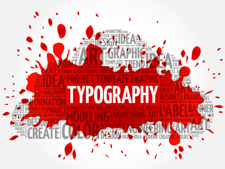 TYPOGRAPHY word cloud, creative business concept background Vettoriali