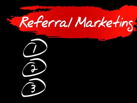 Referral Marketing blank list, business concept
