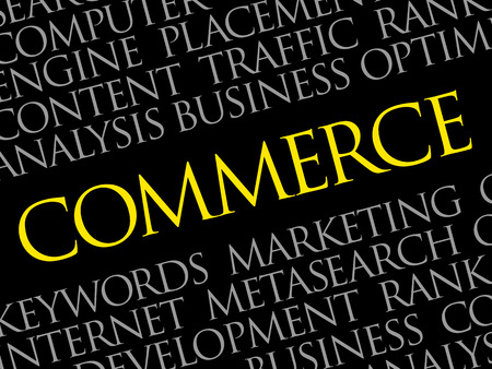 COMMERCE word cloud Illustration