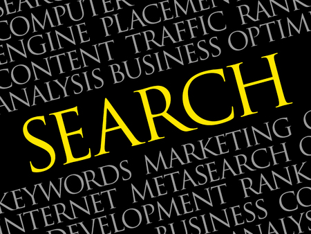 SEARCH word cloud, business concept