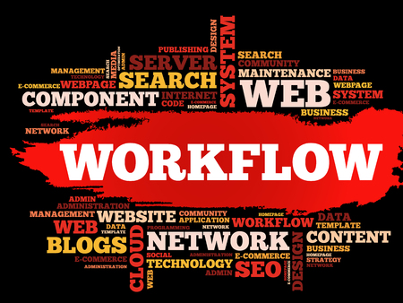 WORKFLOW word cloud collage, technology business concept background