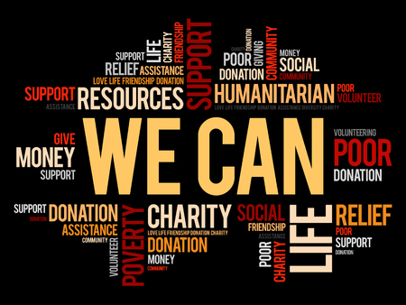 We Can, word cloud collage, concept background