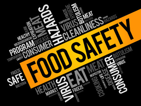 Food Safety word cloud collage, concept background Imagens - 99723579