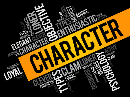 CHARACTER word cloud collage , social concept background