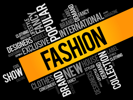 Fashion word cloud collage, concept background Stock Vector - 99730550