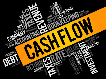 Cash Flow word cloud collage, business concept background Stock Vector - 99730581
