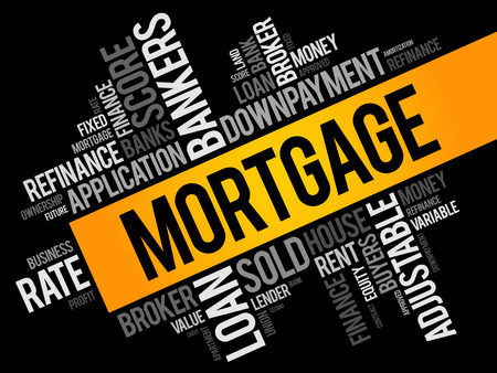 MORTGAGE word cloud collage, business concept background
