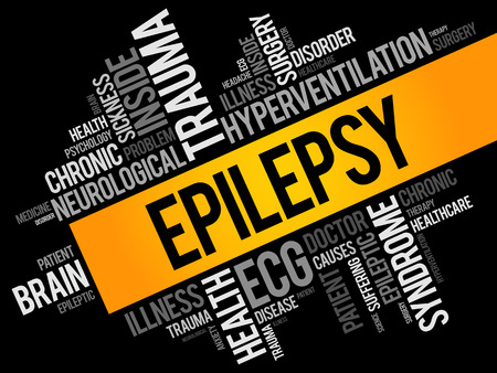 Epilepsy word cloud collage