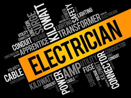 Electrician word cloud collage
