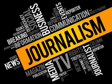 Journalism word cloud collage  イラスト・ベクター素材