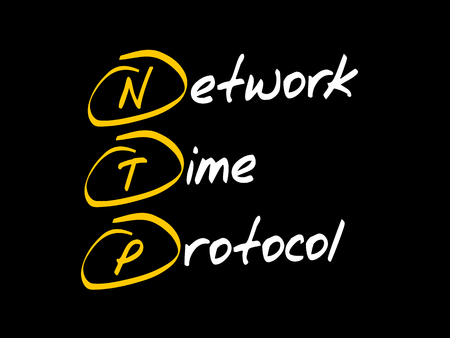 NTP - Network Time Protocol, acronym business concept