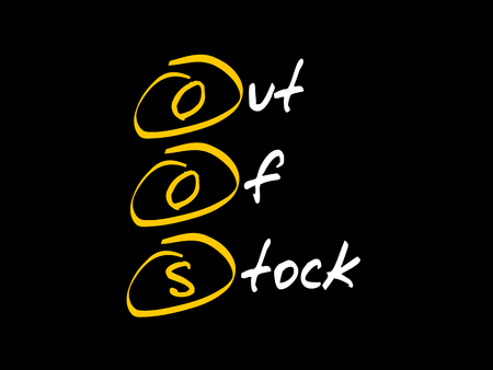 OOS - Out Of Stock, acronym business concept 向量圖像