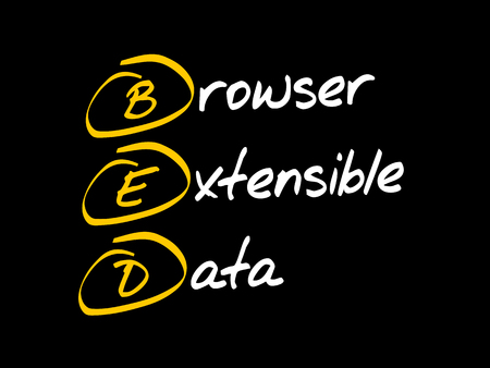 BED - Browser Extensible Data, acronym concept  イラスト・ベクター素材