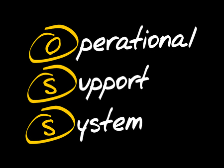 OSS - Operational support system, acronym business concept