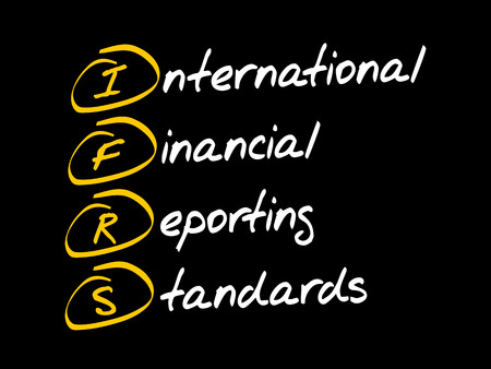 IFRS - International Financial Reporting Standards, acronym business concept