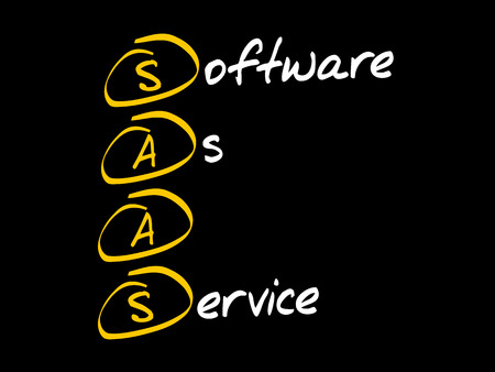 SAAS - Software As A Service acronym, technology concept background
