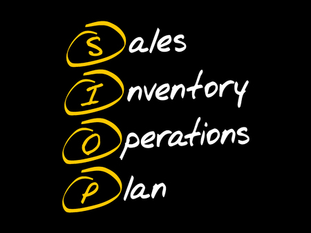 SIOP - Sales Inventory Operations Plan, acronym business concept 矢量图像