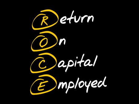 ROCE - Return On Capital Employed, acronym business concept Ilustração