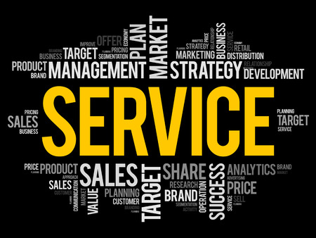SERVICES word cloud, business concept Imagens - 101029313