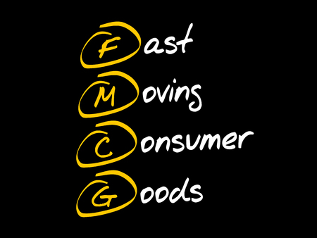 FMCG - Fast Moving Consumer Goods, acronym business concept 向量圖像